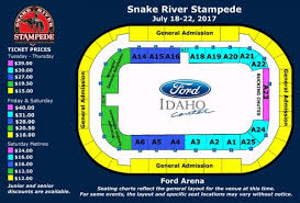Seating Chart Ford Idaho Center Events Snake River Stampede Ford Idaho Center