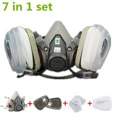 top 7 in 1 half face gas mask painting spray dust protector respirator set
