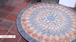 belham living solita mosaic 30 in round outdoor bistro table review