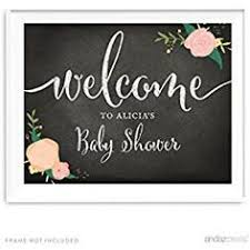 Andaz Press Personalized Baby Shower Party Signs, Chalkboard Pink Coral  Floral Roses Print, 8.5