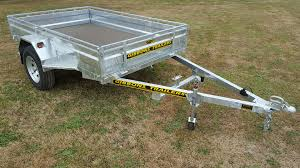 all trailers have an 18mm transtex decking led lights hot dip galvanised steel frames and sides jockey wheels the 2510mm trailers have 14 wheel