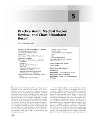 Practice Audit Medical Record Review And Chart Stimulated