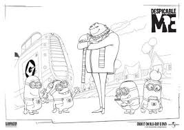 Small Picture Despicable Me Colouring Page 1