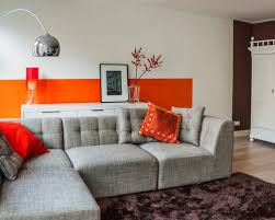 grey red and orange living room. grey and orange living room brown amazing red n