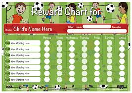 children rewards charts a4 boy girl reward behaviour charts dry wipe magnetic football