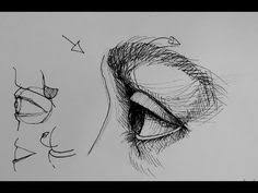 pen and ink drawing tutorials how to draw an eye in side view you