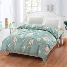 2019 new 100 cotton duvet cover printed colored plaid quilt case for bed twin full king queen size brief blue white flower style from brendin