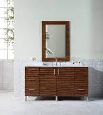 60 Metropolitan American Walnut Single Sink Bathroom Vanity