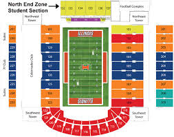 Illinois Seating Chart Football University Of Illinois Football Stadium Seating Chart Best