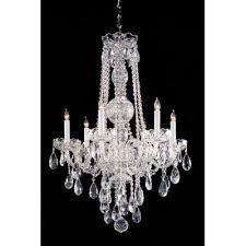 traditional crystal 6 light glass chandelier crystal type swarovski spectra