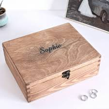 whiskey waxed carved name personalised trinket jewellery box