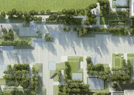 Magic Breeze Landscape Facade Design Penda Combines Stepwells With Water Mazes For Garden Design