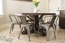 round farmhouse kitchen table. diy-round-table round farmhouse kitchen table