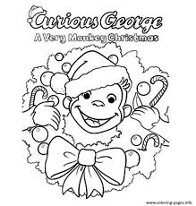 Christmas Curious George Sae99 Coloring Pages Printable
