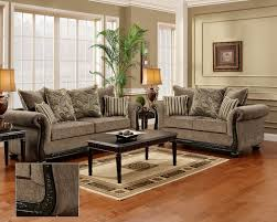 Living Room Furniture Wood Dream Java Chenille Sofa Amp Love Seat Living Room Furniture Set