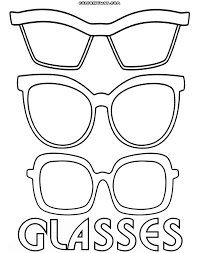 Have fun coloring this amazing free hello kitty coloring sheet! Glasses Coloring Pages Coloring Home