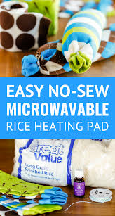 easy no sew microwavable rice heating pad make this microwavable heating pad in