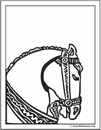Small Picture Horse Coloring Page Riding Showing Galloping