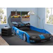 Delta Children Turbo Race Car Twin Bed Blue Walmart