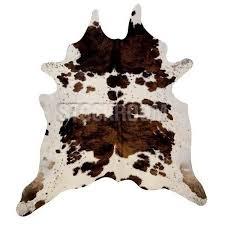 stockroom tri color exotic natural cowhide rug