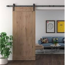solid wood room dividers double interior barn door with hardware kit