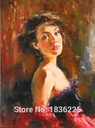 handmade women oil painting on canvas spanish r african american art portrait wall art famous reion