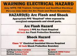 Electrical Ppe Chart Arc Flash Overview