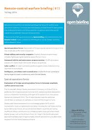 Light Footprint Strategy Remote Control Warfare Briefing 15 May 2016 By Open
