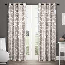com exclusive home lovebirds grommet top window curtain grommet curtain panels