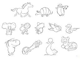 Safari Animals Coloring Pages Colouring Wildlife Baby Printable