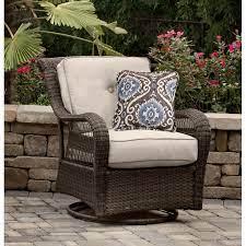 outdoor patio swivel glider chair