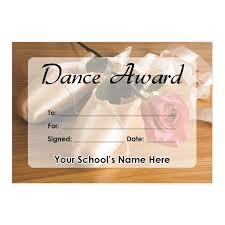 Dance Award Certificate Dance Certificate Set 1