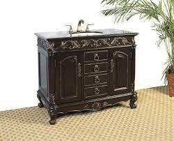 Bathroom Vanity Black Distressed Espresso Black Granite Bathroom Vanity With Sink Free