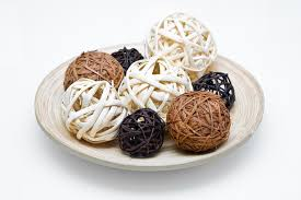 Wicker Balls For Decoration New Wicker Wooden Balls Stock Image Image Of Closeup Celebrate 32