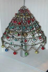 tree bead garland vintage glass ornament aluminum white