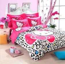 colorful queen bedding cotton hello kitty home textile reactive print bedding sets cartoon bed sheet duvet colorful queen bedding