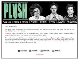 Plush Email Template And Mailing List Native Noise Paul Harold
