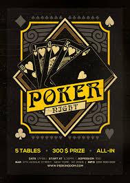 4 X 6 Flyer Template Poker Night Black Jack Template Flyers 4x6 On Behance