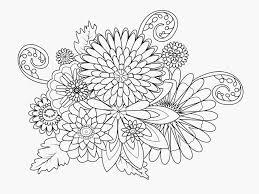 Kleurplaten Lente Bloemen Schets Bloemen Kleurplaat Volwassenen