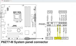 asus p8z77 m motherboard power switch connector? windows 7 help forums Computer Motherboard Diagram with Label at Motherboard Wiring Diagram Power Reset