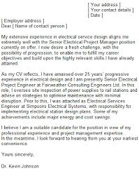 Electrical Engineer Cover Letter Application Letter Sample For Electrical Engineer