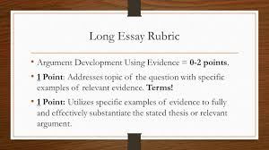 apush long essay structure and rubric overview long essay the  12 long essay