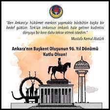 13 Ekim Ankara'nın başkent oluşu kutlu olsun! – TED EGE KOLEJİ