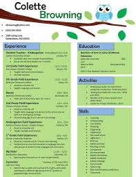 Teacher Resume Template Stunning Teacher Resume Templates