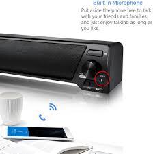 Xgody LP-09 TV Soundbar Bluetooth v4.2 Speaker USB Stereo Speaker 3.5mm Aux  TF Card LED Indicator Built-in Microphone Stereo Portable for TV PC (LP-09)  : Amazon.co.uk: Electronics & Photo