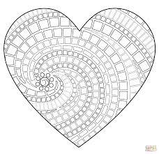 Coloriages Mandala Coeur Adultes Page 2