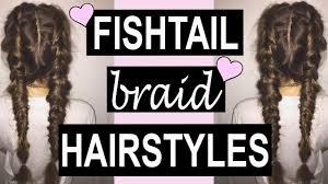 Braids Hairstyles Tumblr 5 Fishtail Braid Tumblr Hairstyles Youtube
