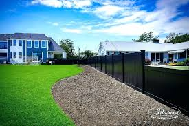 black vinyl fence panels.  Panels Black Vinyl Fence Panels Pvc Privacy Fencing  Illusions Throughout 7
