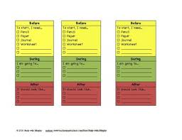 Before During After Desk Chart Or Task Card Work Production