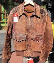 old school wwii leather er flight jacket